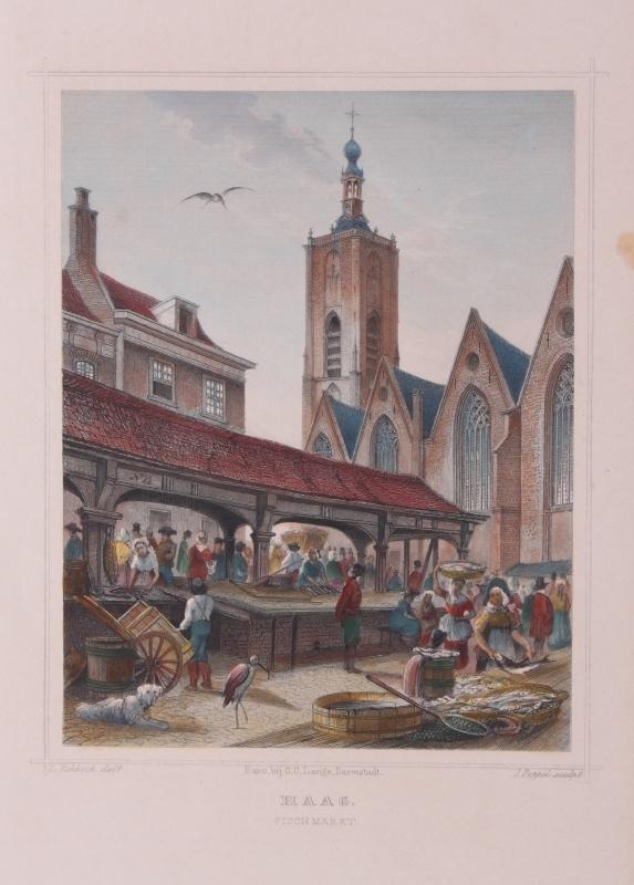 Gezicht op Den Haag.