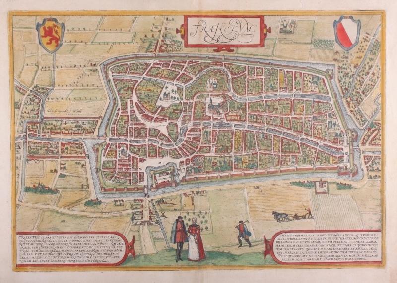 Stadsplattegrond Utrecht.