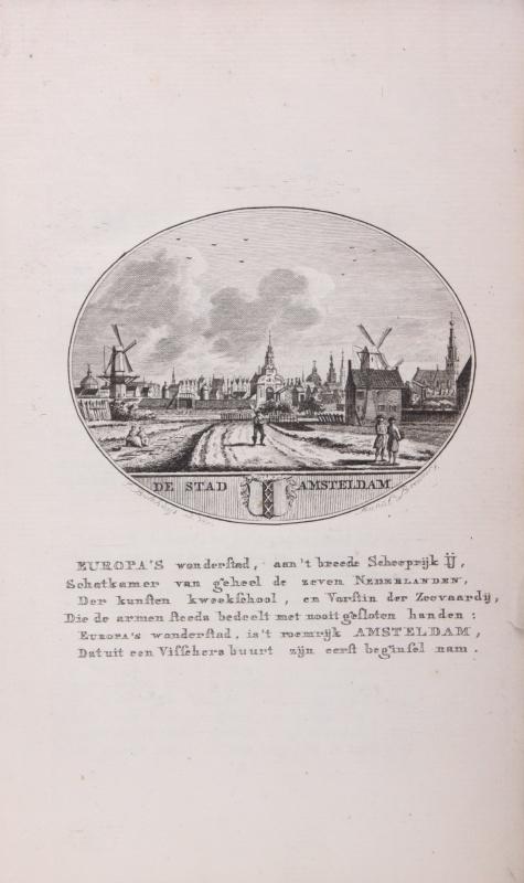 Stadsgezicht van Amsterdam.