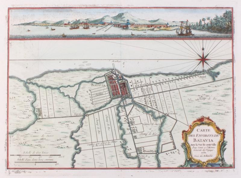 Plattegrond en Panorama Batavia.