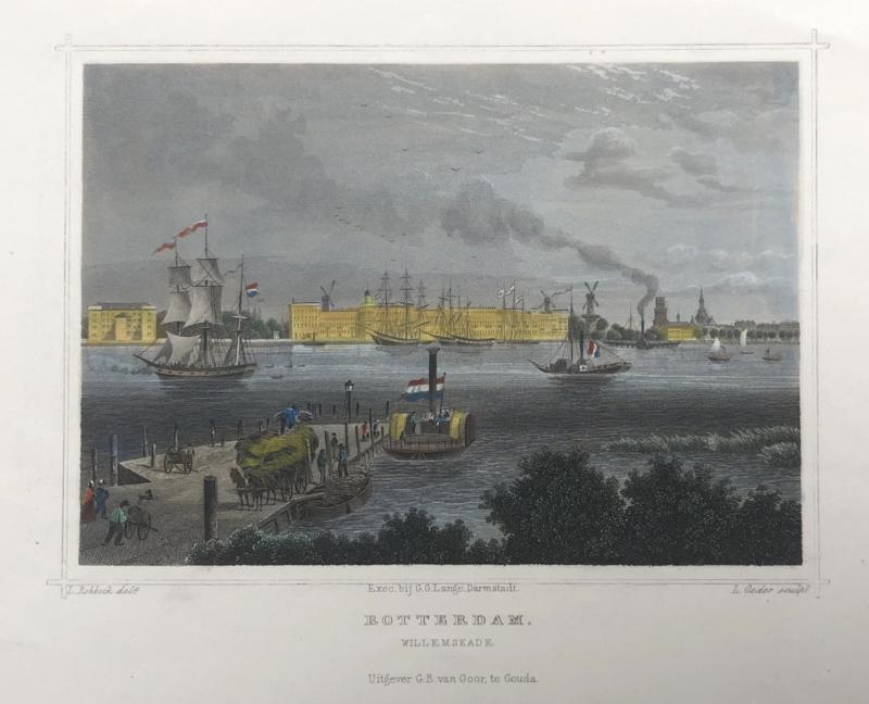 Panorama van Rotterdam.
