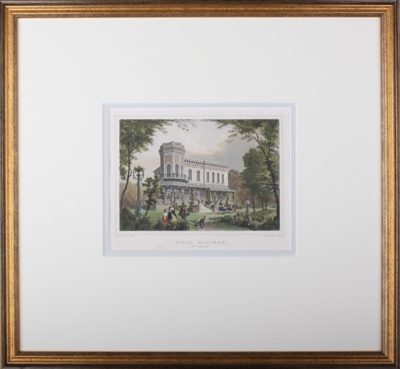 Framing category A (Gold colored framing with a double passe partout).