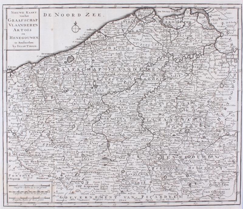 Kaart Vlaanderen