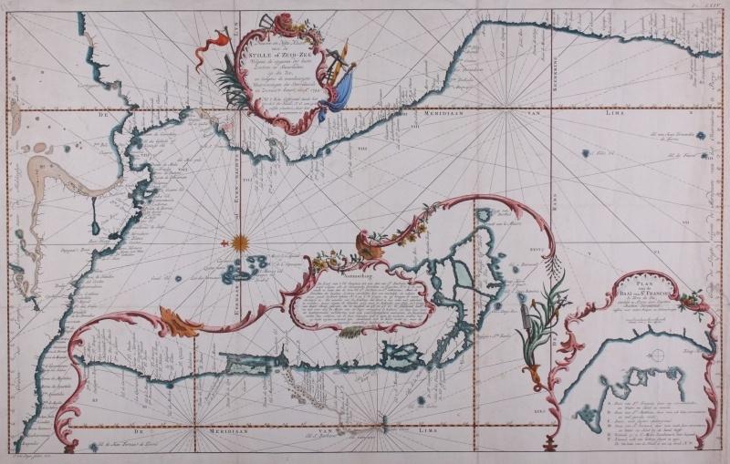 Kaart westkust Zuid Amerika.