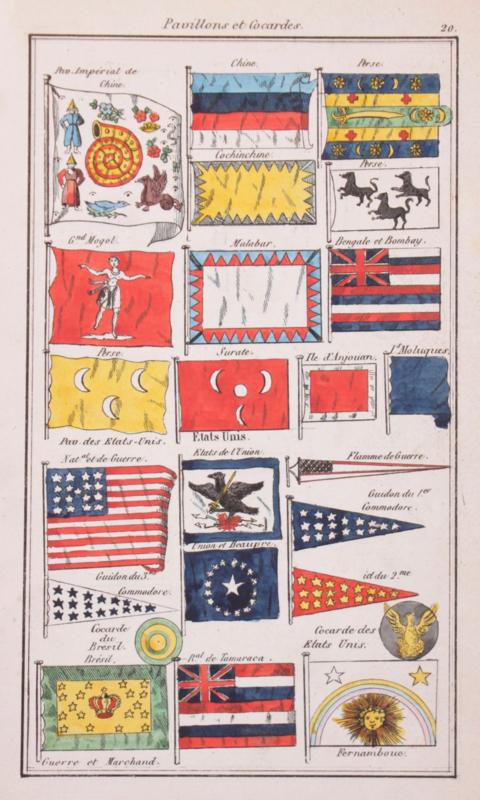 Vlaggekaartje China en Verenigde Staten.