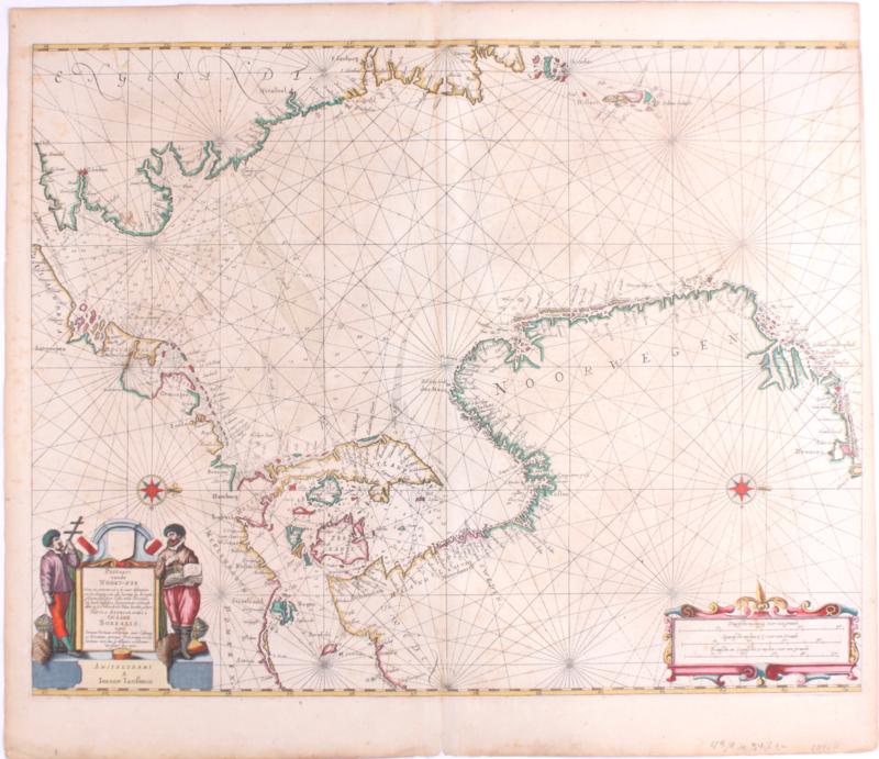 Zeekaart Noord Europa.