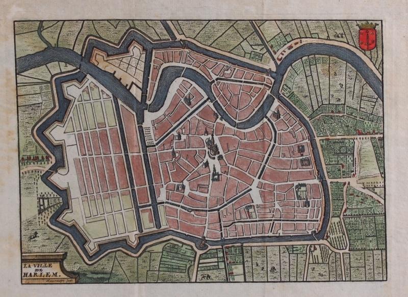 Town plan of Haarlem.