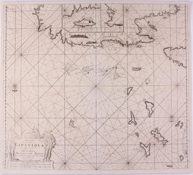 Paskaart Haiti/ Cuba.