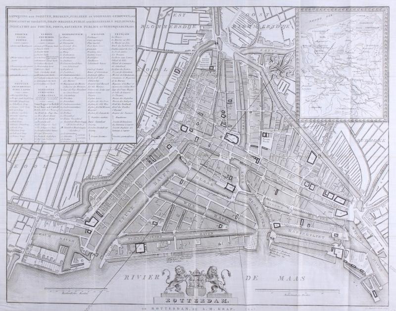 Plattegrond Rotterdam.
