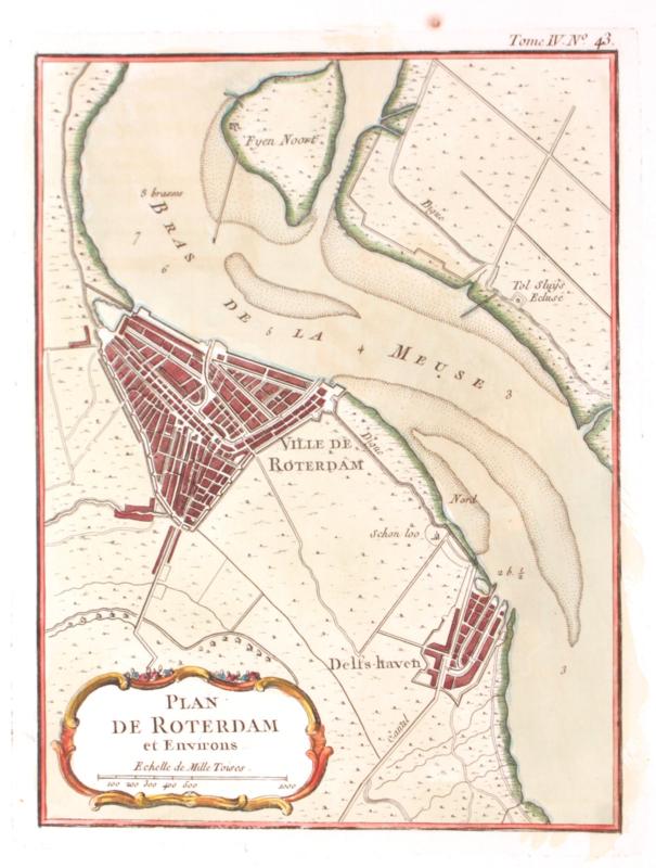 Plattegrond Rotterdam en omstreek.