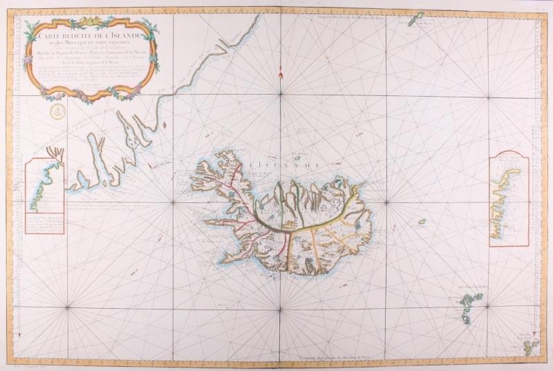 Zeekaart IJsland.