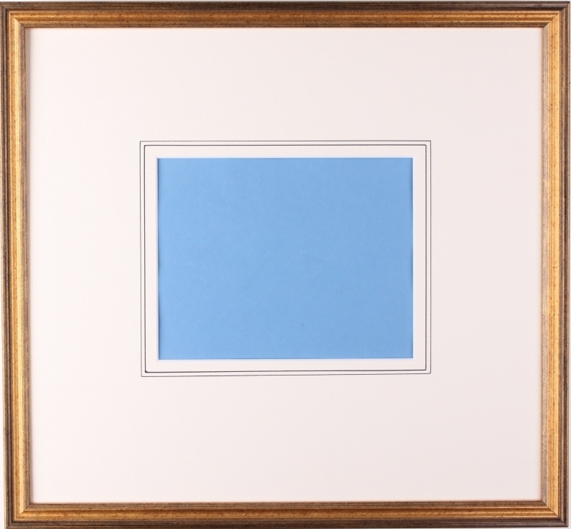 Framing category D (Gold colored framing with two support lines on the passe partout).