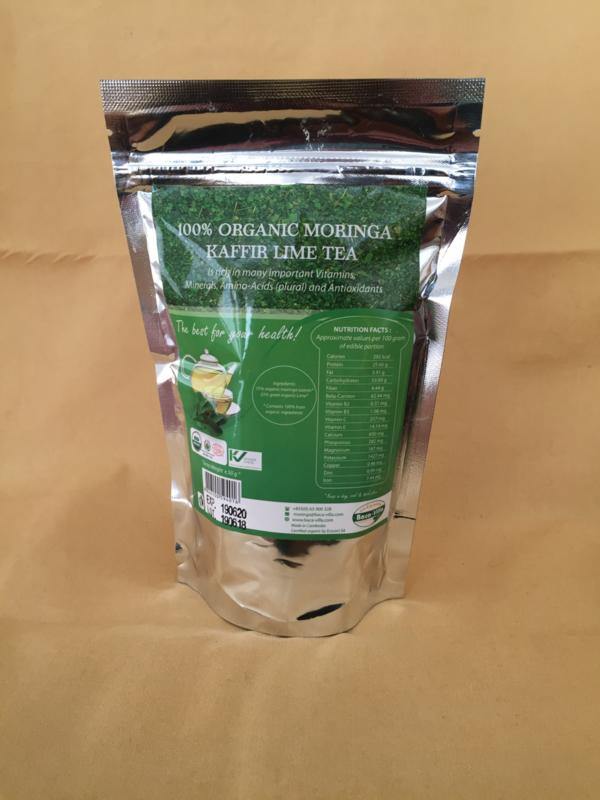 Moringa theebladeren Kafir Lime - 50 gram