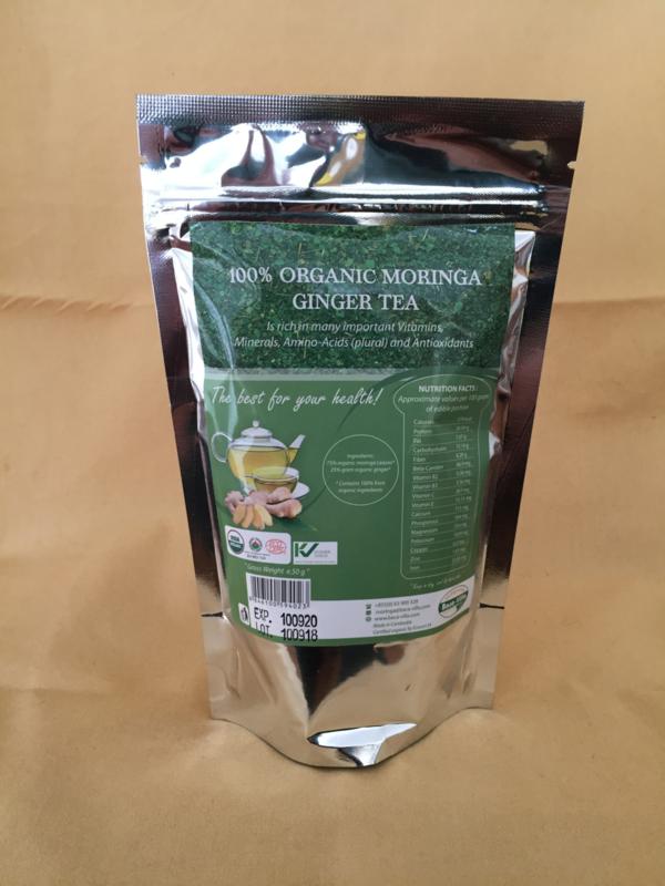 Moringa theebladeren Ginger - 50 gram