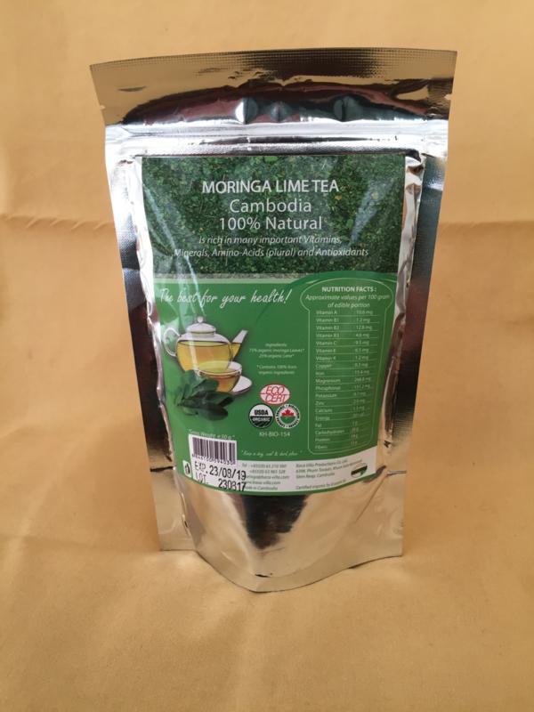 Moringa theebladeren  Lime - 50 gram