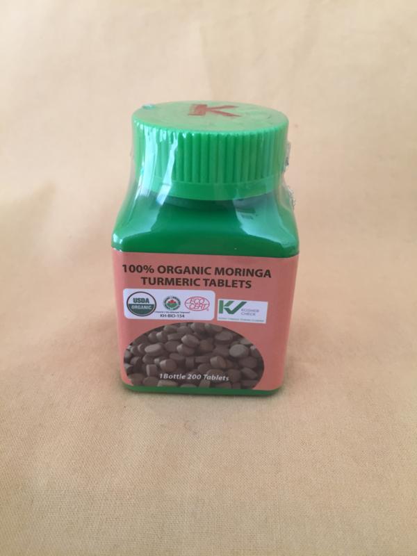 Moringa tabletten - Kurkuma (turmeric) - 200 stuks