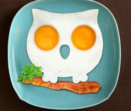 Uil bakvorm voor gebakken ei