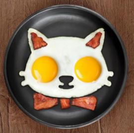 Kat bakvorm voor gebakken ei