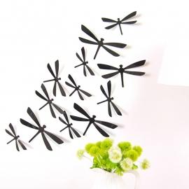Zwarte 3D-libellen