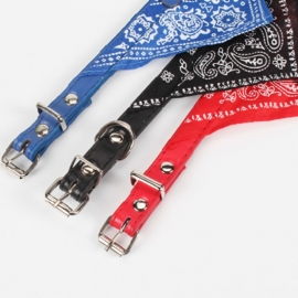 Bandana halsband voor huisdieren (zwart)
