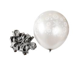 Ijssterren ballonnen grijs (12 stuks)