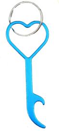 Hart flesopener (lichtblauw)
