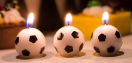 Voetbal kaarsjes (3 stuks)