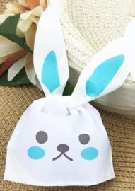 Bunny traktatie zakjes (blauw)