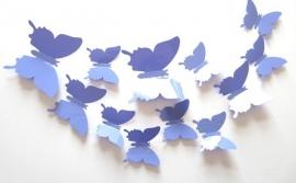 Effen paarse 3D-vlinders