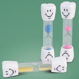 Zandloper voor het tandenpoetsen (roze)
