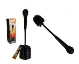 Toiletborstel 'Microfoon'