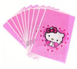 Hello Kitty traktatie zakjes (10 stuks)