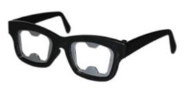 Partybril flesopener (zwart)