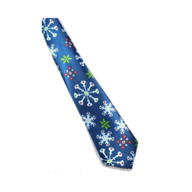 Kerst stropdas (blauw)