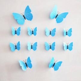 Lichtblauwe 3D-vlinders