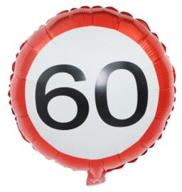 60 jaar folieballon