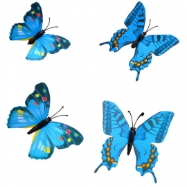 Summer edition, mix blauw 3D-vlinders