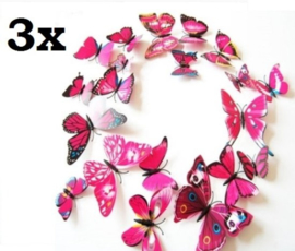 3x mix roze