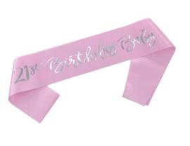 21st Birthday Baby sjerp (roze)