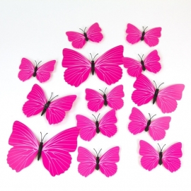Roze 3D-vlinders