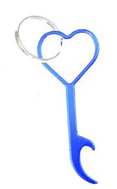 Hart flesopener (blauw)