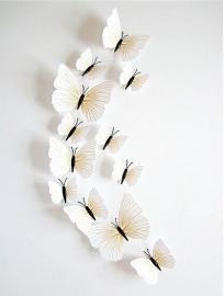 Witte 3D-vlinders