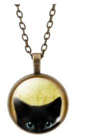 zwarte kat ketting