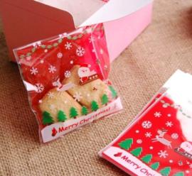Traktatiezakjes 'Kerstman en zijn koets'
