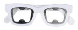 Partybril flesopener (wit)