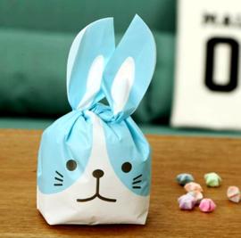 Rabbit traktatie zakjes (groot)