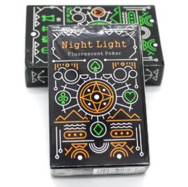 Speelkaarten glow in the dark (oranje)