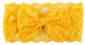 Kanten hoofdband (geel)