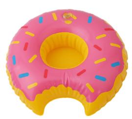 Pink donut bekerhouder