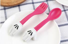 Mickey Mouse bestek (roze)